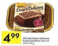 Mccain Deep'n Delicious Frozen Desserts Selected 400-510 g