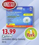 Option+ Loratadine Allergy Remedy 30+6