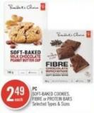 PC Soft-baked Cookies - Fibre or Protein Bars