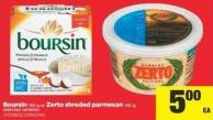 Boursin - 150 G Or Zerto Shreded Parmesan - 140 G