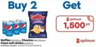 Ruffles - 210/220 g - Cheetos - 280-310 g or Pepsi Soft Drinks - 6x222 mL