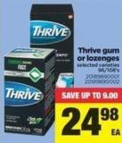 Thrive GUM Or Lozenges - 96/108's
