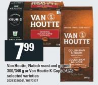 Van Houtte - Nabob Roast And Ground 300/340 g Or Van Houtte K-cups 6-12's