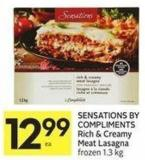 Sensations By Compliments Rich & Creamy Meat Lasagna