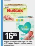 Huggies Or Pampers - 9/10x Wipes - 624-704's Or 6x Pampers Pure - 336's