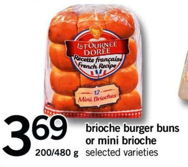 Brioche Burger Buns Or Mini Brioche - 200/480 G