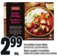 Irresistibles Frozen Meals
