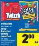 Twizzlers - 300-454 g Or Jolly Rancher Candy Pouches - 170-198 g