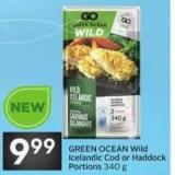 Green Ocean Wild Icelandic Cod or Haddock Portions