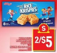 Kellogg's Rice Krispies Squares Or Nutri Grain Bars