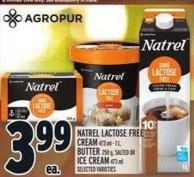 Natrel Lactose Free Cream 473 Ml ‑ 1 L - Butter 250 G - Salted Or Ice Cream 473 Ml