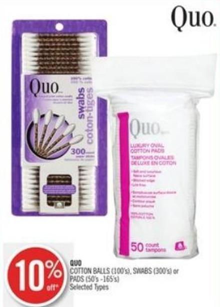 Quo Cotton Balls (100's) - Swabs (300's) or Pads (50's -165's)
