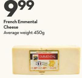 French Emmental Cheese
