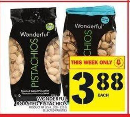 Wonderful Roasted Pistachios