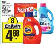 Tide Or Downy Or Bounce Fabric Softener