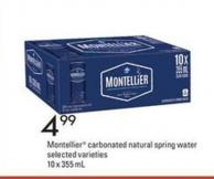 Montellier Carbonated Natural Spring Water - 10 X 355 mL