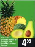 Avocado - 6's Or Pineapple - Each