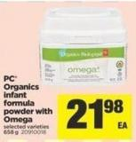 PC Organics Infant Formula Powder With Omega - 658 g