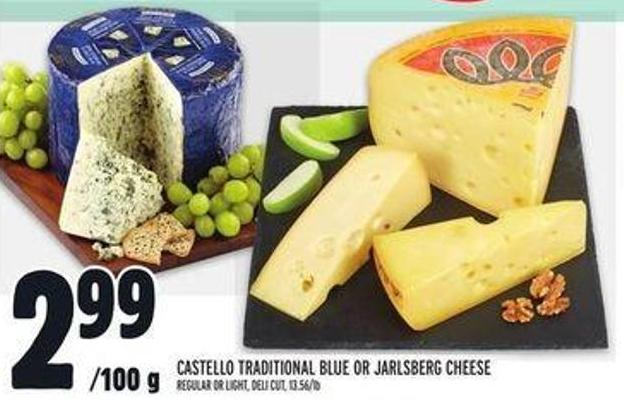 Castello Traditional Blue Or Jarlsberg Cheese