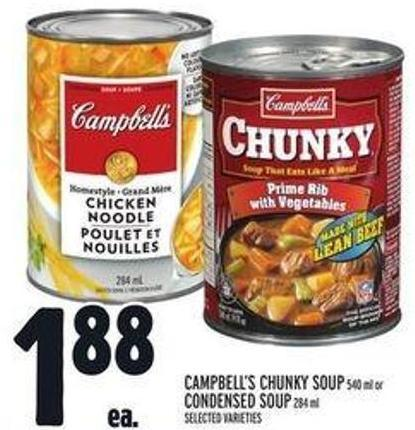 Campbell's Chunky Soup 540 ml Or Condensed Soup 284 ml