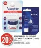 Aquaphor Healing Ointment (7g) - O'keeffe's or Nivea Lip Care Products