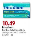 Imodium Diarrhea Relief Liquid Gels