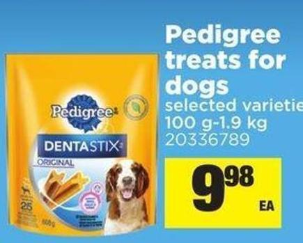 Pedigree Treats For Dogs - 100 G-1.9 Kg