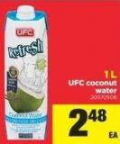 Ufc Coconut Water - 1 L