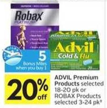 Advil Premium Products - 5 Air Miles Bonus Miles