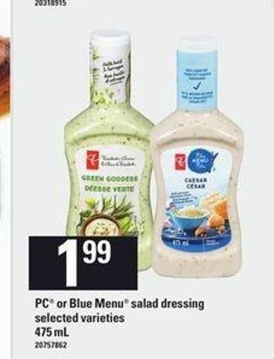 PC Or Blue Menu Salad Dressing - 475 Ml