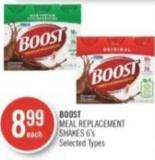 Boost Meal Replacement Shakes 6's