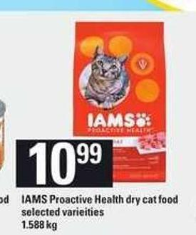 Iams Proactive Health Dry Cat Food - 1.588 Kg