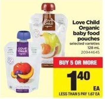 Love Child Organic Baby Food Pouches - 128 Ml