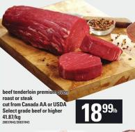 Beef Tenderloin Premium Oven Roast Or Steak