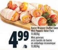 Bacon Wrapped Stuffed Sweet Mini Peppers Value Pack