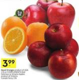 Navel Oranges Product of USA 3 Lb or Compliments Red Delicious or Empire Apples Product of Ontario Canada Fancy 3 Lb