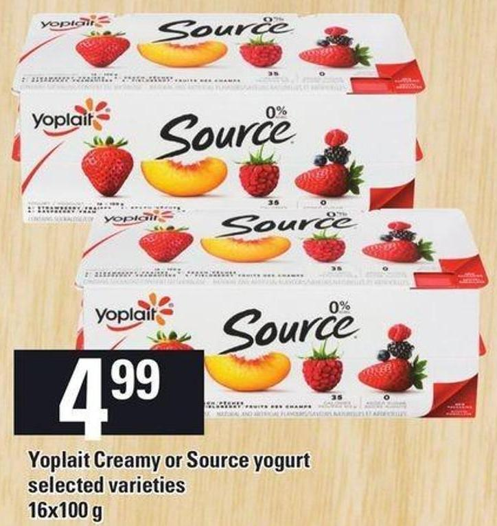 Yoplait Creamy Or Source Yogurt - 16x100 g
