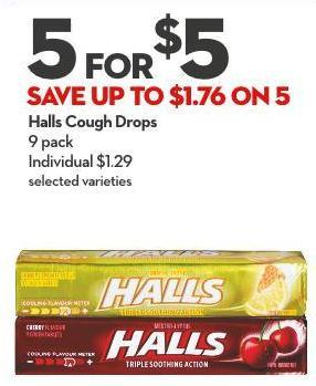 Halls Cough Drops 9 Pack