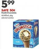 Nestlé Drumsticks 4x140ml Pkg