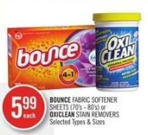 Bounce Fabric Softener Sheets (70's - 80's) or Oxiclean Stain Removers