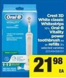 Crest 3D White Classic Whitestrips - 10's - Oral-b Vitality Power Toothbrush Ea Or Refills - 3's