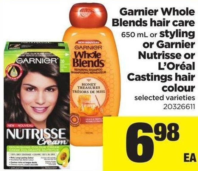 Garnier Whole Blends Hair Care 650 Ml Or Styling Or Garnier Nutrisse Or L'oréal Castings Hair Colour