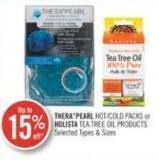 Thera Pearl Hot/cold Packs or Holista Tea Tree Oil Products