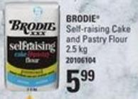 Brodie Self-raising Cake And Pastry Flour - 2.5 Kg