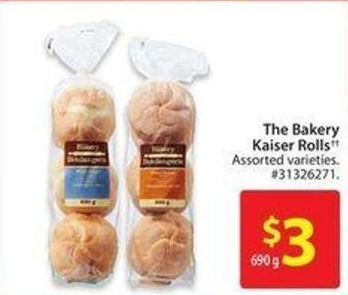 The Bakery Kaiser Roll
