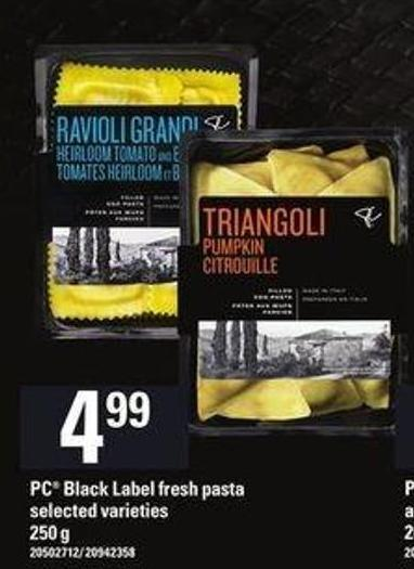 PC Black Label Fresh Pasta - 250 g