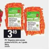 PC Organics Mini Carrots - 454 g