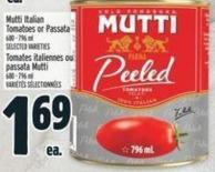 Mutti Italian Tomatoes Or Passata 680 - 796 ml