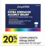 Compliments Allergy Relief