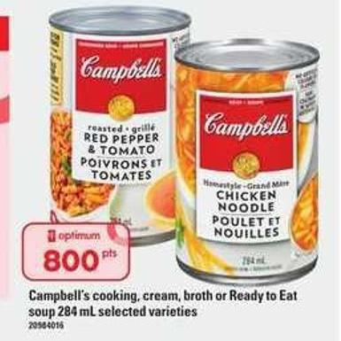 Campbell's Cooking - Cream - Broth Or Ready To Eat Soup - 284 mL